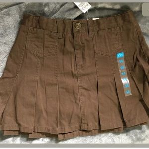 The Childrens Place, Brown Pleated Skirt Skort 14